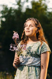 Portrait of a beautiful young teenage girl Royalty Free Stock Images
