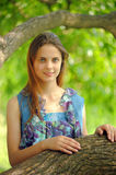 Portrait of a beautiful young teenager girl Royalty Free Stock Image