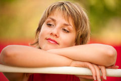 Portrait of beautiful young woman Royalty Free Stock Images