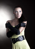 Portrait beautiful young woman stock photos