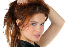 Portrait of the beautiful young woman Royalty Free Stock Photos