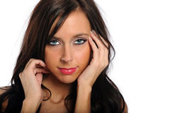 Portrait of Beautiful Young Woman Royalty Free Stock Photos
