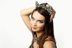 Portrait a beautiful young woman Royalty Free Stock Image