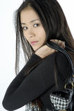 Portrait of a beautiful young woman. Studio portrait of a asian girl Stock Photo