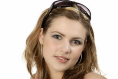 Portrait of a beautiful young woman. Studio photo of a gorgeous girl Stock Image