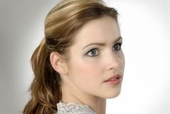 Portrait of a beautiful young woman. Studio photo of a gorgeous girl Stock Photos