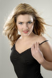 Portrait of a beautiful young woman. Studio photo of a gorgeous girl Royalty Free Stock Images