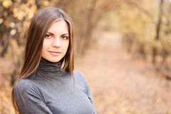 Portrait of beautiful young woman Stock Photos