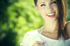 Portrait beautiful young woman Stock Image