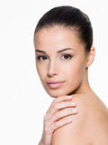 Portrait of the beautiful young woman Royalty Free Stock Photo