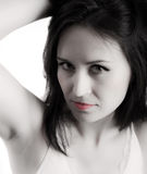 Woman showing armpit Royalty Free Stock Photos