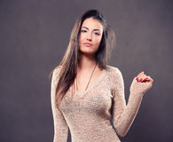 Beautiful young woman. Portrait of beautiful young woman Royalty Free Stock Photography