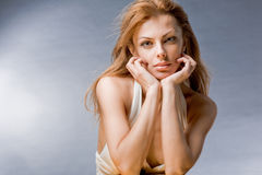 Portrait beautiful young woman Stock Images
