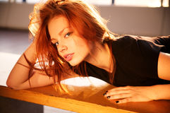 Portrait of beautiful young woman Stock Photography