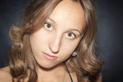 Portrait of a beautiful young woman Stock Photos