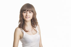 Portrait of Beautiful Young Woman With Brackets Stock Photography