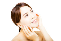 Portrait of beautiful young  woman with clean face Royalty Free Stock Photos