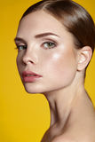 Portrait of beautiful young woman with clean face Royalty Free Stock Photography
