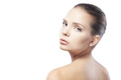 Portrait of beautiful young woman with clean skin Royalty Free Stock Photography