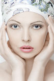 Portrait of a beautiful young woman with clean skin. Stock Photos