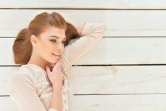 Beautiful young woman close-up Royalty Free Stock Photo