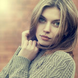 Portrait of a beautiful young woman close up Royalty Free Stock Photos