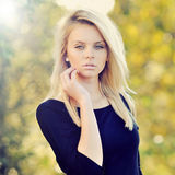 Portrait of a beautiful young woman close up.  Royalty Free Stock Images