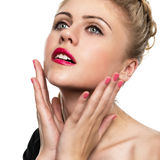 Portrait of a beautiful young woman close-up Royalty Free Stock Photography