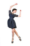 Young  attractive brunette dancing Stock Images