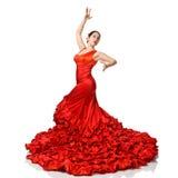 Portrait of  beautiful young woman dancing flamenco Stock Photography