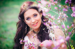 Portrait of a beautiful young woman European appearance royalty free stock photography