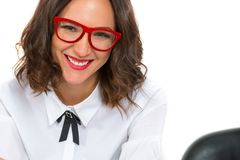 Portrait of a beautiful young woman with glasses Stock Images