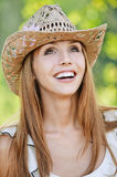 Portrait beautiful young woman hat Royalty Free Stock Photography