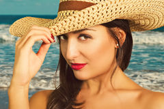 Portrait of beautiful young woman. Royalty Free Stock Photography