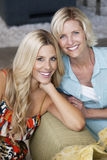 Portrait of beautiful young woman with her mother Royalty Free Stock Photos