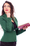 Portrait of a beautiful young woman holding a book Stock Photography