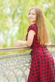 Portrait of a beautiful young woman Stock Images