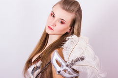 Portrait of a beautiful young woman Stock Photography