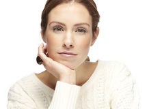 Portrait of a beautiful young woman, looking at camera Stock Image