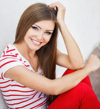 Portrait of a beautiful young woman with make-up Royalty Free Stock Photography