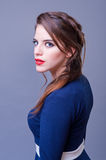 Portrait of beautiful young woman with makeup. Royalty Free Stock Images