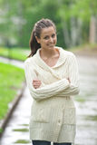 Portrait of beautiful young woman outdoors Royalty Free Stock Photo