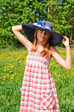 Portrait of a beautiful young woman outdoors Royalty Free Stock Photography