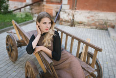 Portrait of beautiful young woman. Stock Photography