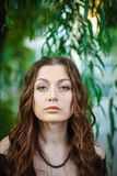 Portrait of a beautiful young woman. Focus on the eyes Royalty Free Stock Photos