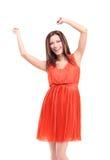 Portrait of beautiful young woman posing Stock Photos
