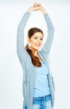 Portrait of beautiful young woman posing with smile Royalty Free Stock Photography