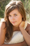 Portrait Of Beautiful Young Woman Relaxing Royalty Free Stock Image
