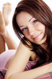 Portrait of a beautiful young woman relaxing Royalty Free Stock Photography