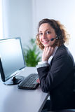 Portrait of a beautiful young woman secretary at work Stock Photos